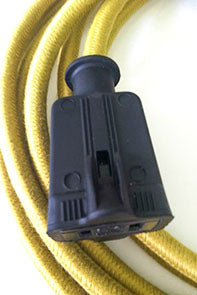 Black Female Rubber Rectangular Plug