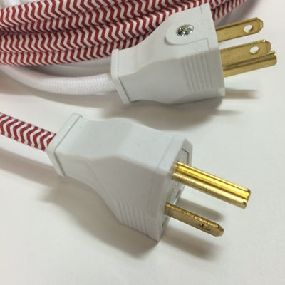 3-Prong White Thermoplastic Plug