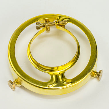 SHADE HOLDER: Brass Clamp-On Shade Holder