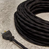 3-CONDUCTOR 16-GAUGE BLACK COTTON OVERBRAID CORD