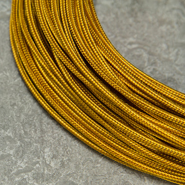 SINGLE-CONDUCTOR 18-GAUGE GOLD RAYON WIRE