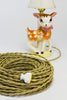 2-CONDUCTOR 18-GAUGE GOLD COTTON TWISTED WIRE WITH GRAY TRACER