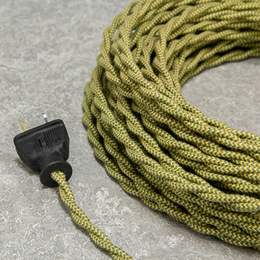 2-CONDUCTOR 18-GAUGE DEATH VALLEY GOLD & GREEN ZIG-ZAG COTTON TWISTED WIRE