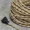 2-CONDUCTOR 16-GAUGE PUTTY COTTON TWISTED WIRE WITH GOLD TRACER