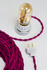 2-CONDUCTOR 18-GAUGE RASPBERRY COTTON TWISTED WIRE