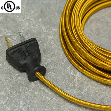 2-CONDUCTOR 18-GAUGE GOLD RAYON PARALLEL CORD - UL-Listed