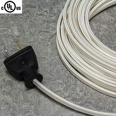 2-CONDUCTOR 18-GAUGE WHITE RAYON PARALLEL CORD - UL-Listed
