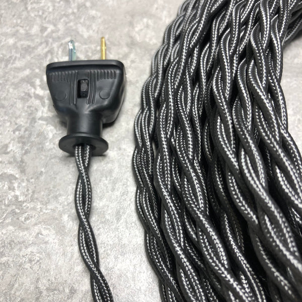 2-CONDUCTOR 18-GAUGE PEWTER RAYON TWISTED WIRE