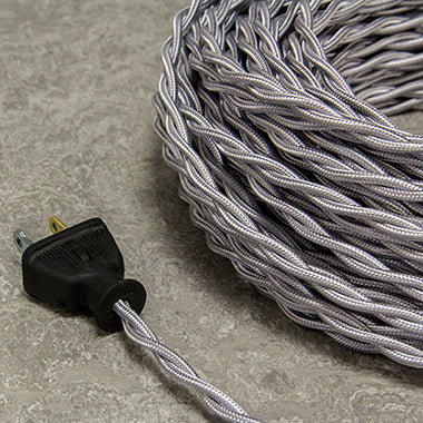 2-CONDUCTOR 18-GAUGE SILVER RAYON TWISTED WIRE