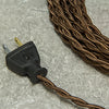 2-CONDUCTOR 18-GAUGE WALNUT BROWN RAYON TWISTED WIRE