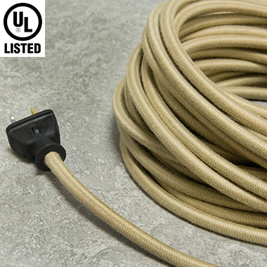 3-CONDUCTOR 18-GAUGE PUTTY COTTON PULLEY CORD - UL-Listed