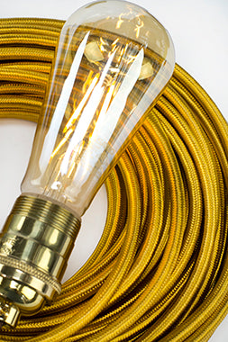 3-CONDUCTOR 18-GAUGE GOLD RAYON PULLEY CORD - UL-Listed