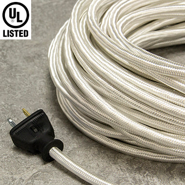 2-CONDUCTOR 18-GAUGE WHITE RAYON PULLEY CORD - UL-Listed