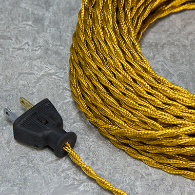 2-CONDUCTOR 20-GAUGE GOLD RAYON TWISTED WIRE