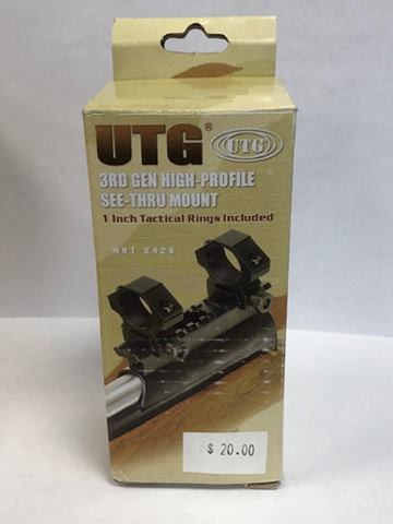 UTG 3rd Gen High Rise See through SKS Scope Mount