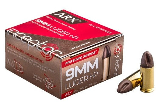Inceptor Preferred Defense 9mm +p 65gr