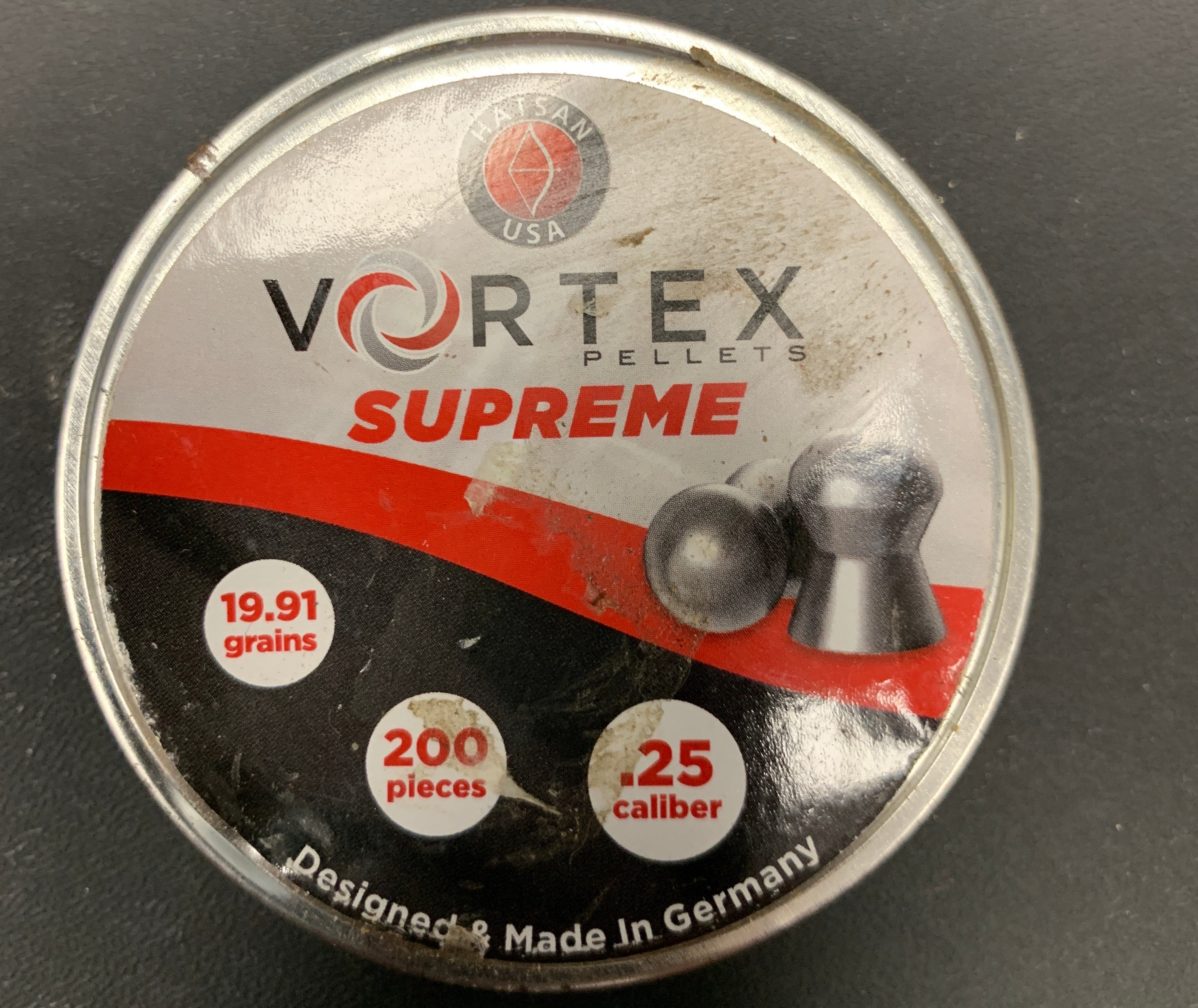Hatsan USA Vortex Supreme .25 Cal 200ct