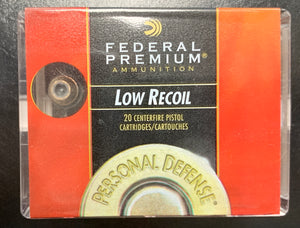 Federal .380 Hydra-Shok JHP 90gr - Low Recoil