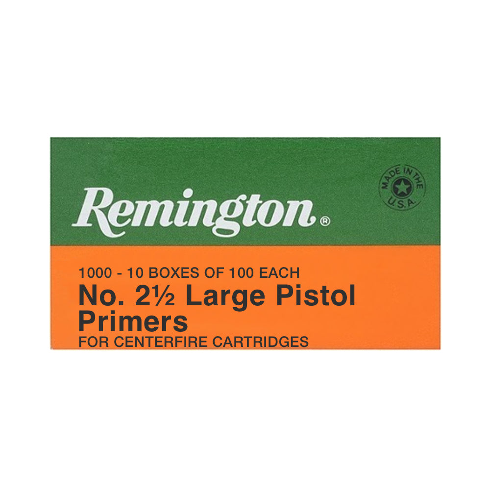 Remington No.2-1/2 Large Pistol Primers 100ct