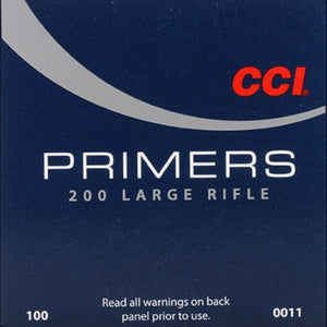 CCI #200 Large Rifle Primers 100ct
