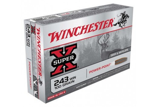 Winchester .243 Win 100gr Power Point
