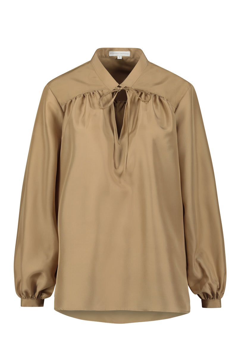 ALEXA SILK BLOUSE Gold