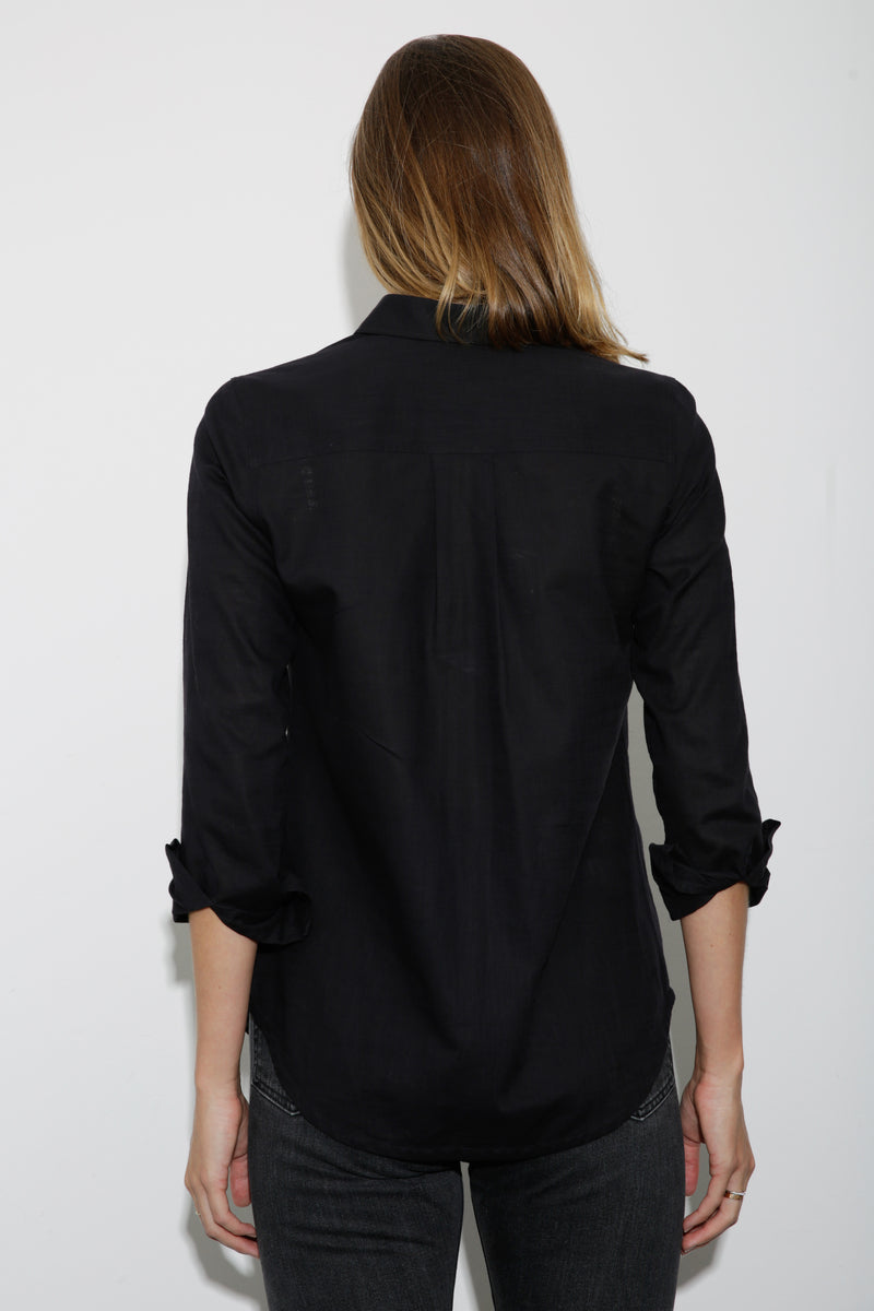 Alex Linen Shirt black