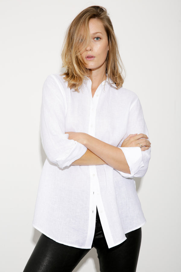Alex Linen Shirt white