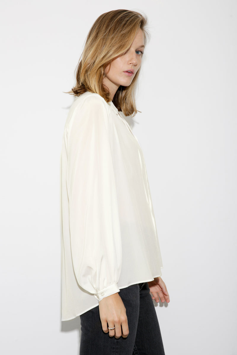 Alexa Silk Blouse white
