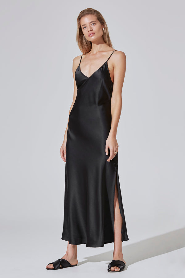 INDRIA Silk Slip Dress