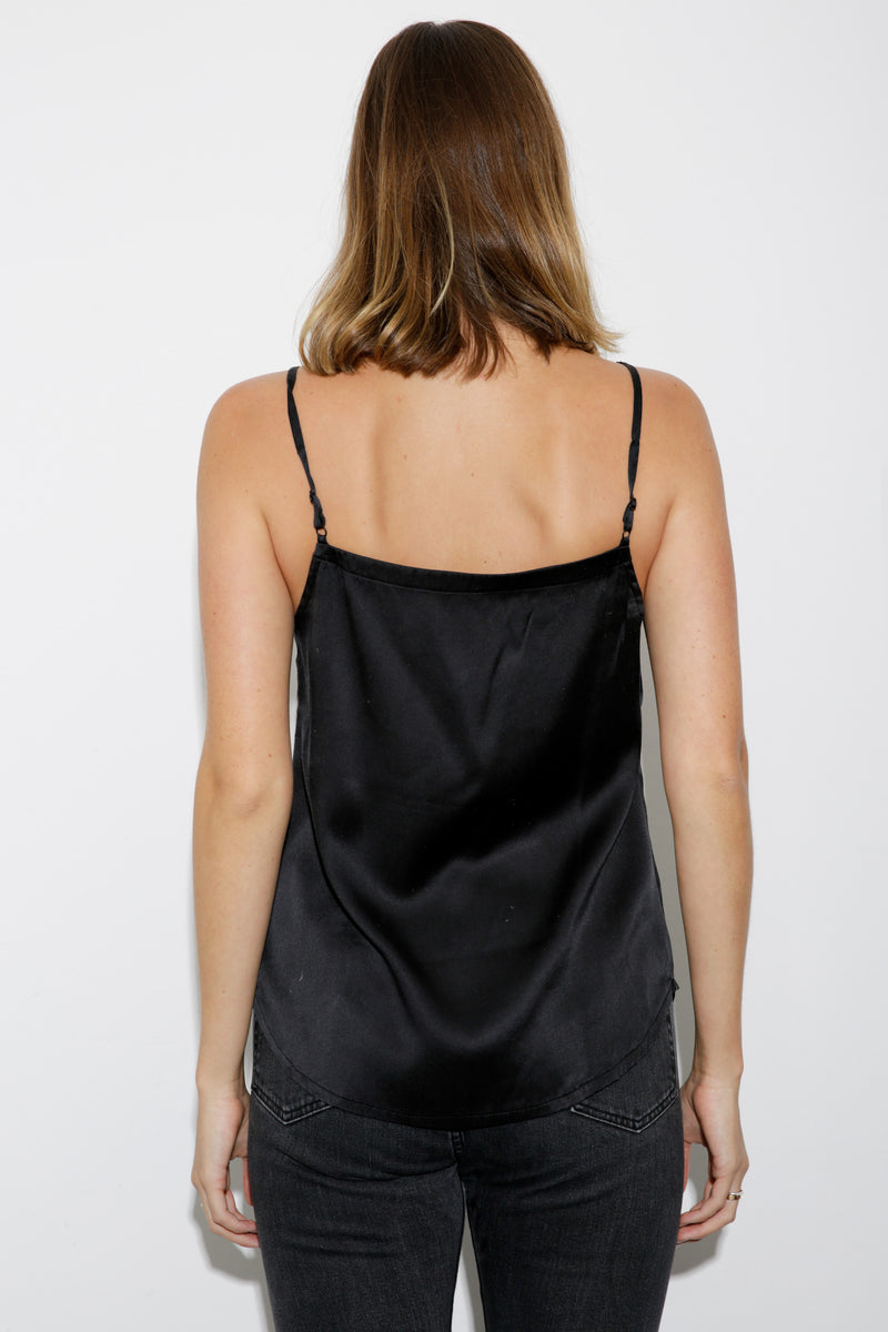 Sienna Silk Satin Cami black
