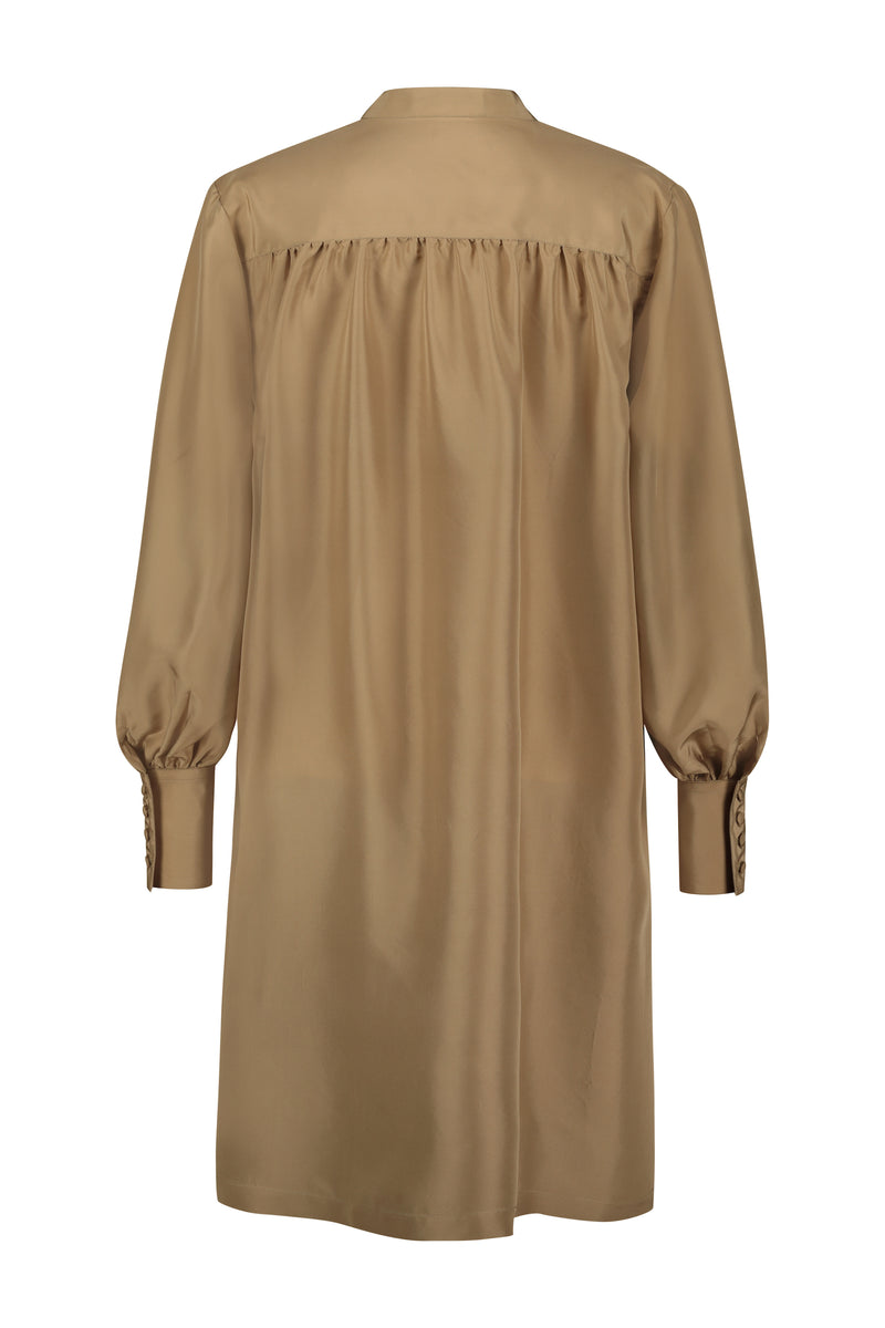 Alexa Silk Habotai Gold dress