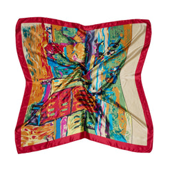 Silk scarf red allure