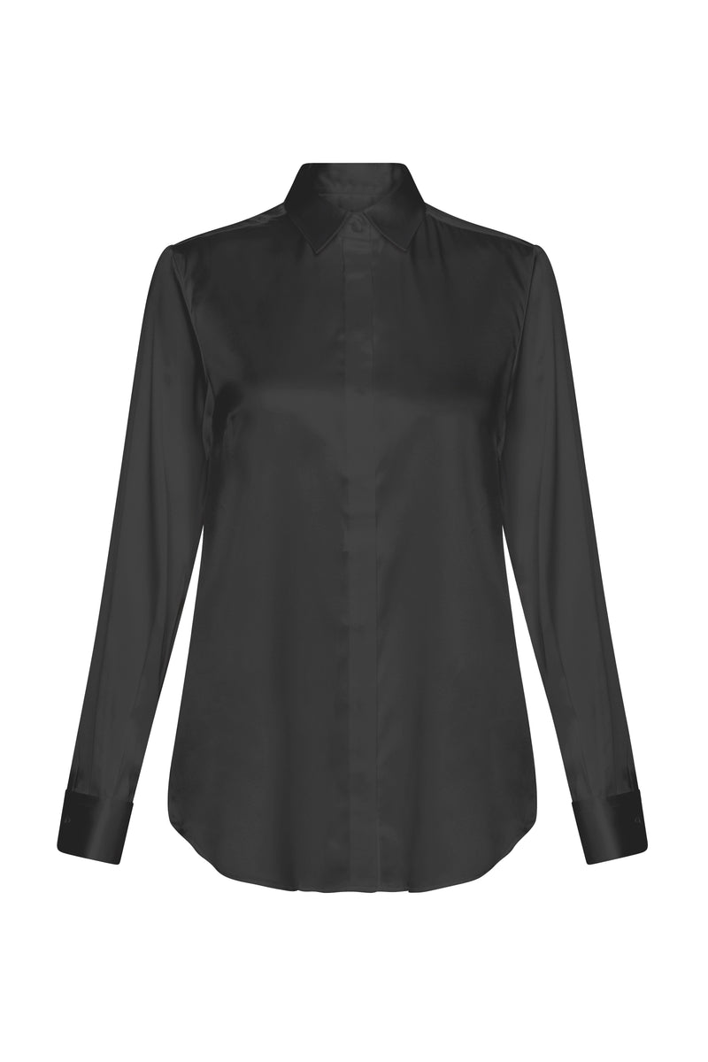 BELLA  Silk CDC Shirt black