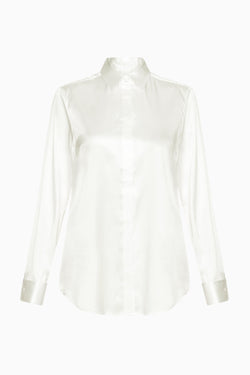 Lizzy Sheer Silk Shirt oyster