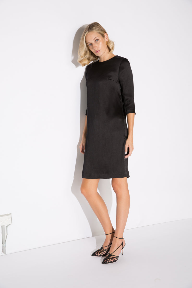 MARGOT CREPE SILK MINI DRESS