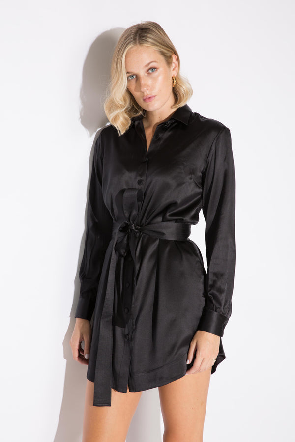 Olivia Silk Shirt Dress