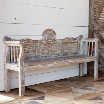 Aged Painted Bench