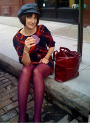Larisa and the Camille in Cherry Leather