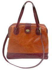 Marco Doctor Bag in Mango & Cherry Leather