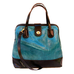 Marco in Ocean & Licorice Leather