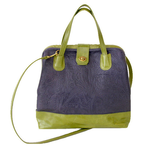 Picture of Marco Doctor Bag in Concord Floral & Avocado Leather