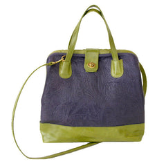 Marco Doctor Bag in Concord Floral & Avocado Leather