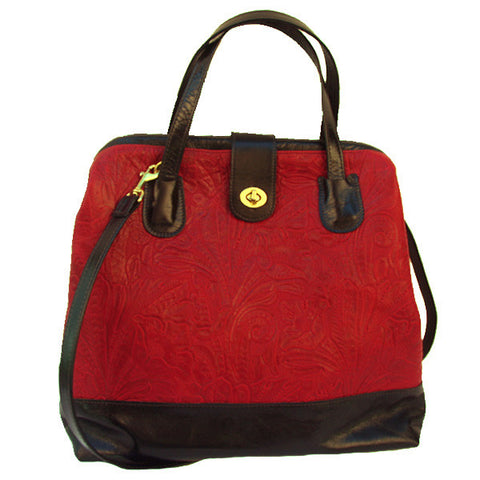 Picture of Marco in Paprika Floral & Licorice Leather