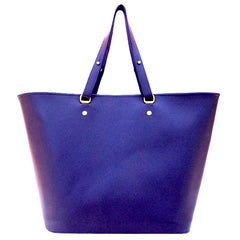 Venus Tote in Grape Leather by Sage Luxury