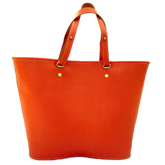 Venus Tote in Tangerine Leather by Sage Luxury