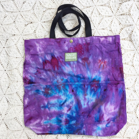 Picture of Orgato Shibori Tie Dye 3-Pocket Canvas Tote 1035 by Sage Luxury