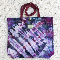 Orgato Shibori Tie Dye 3-Pocket Canvas Tote 1100 by Sage Luxury