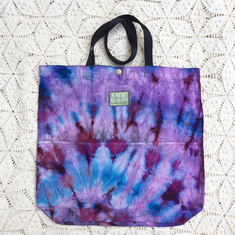 Picture of Orgato Shibori Tie Dye 3-Pocket Canvas Tote 1030 by Sage Luxury