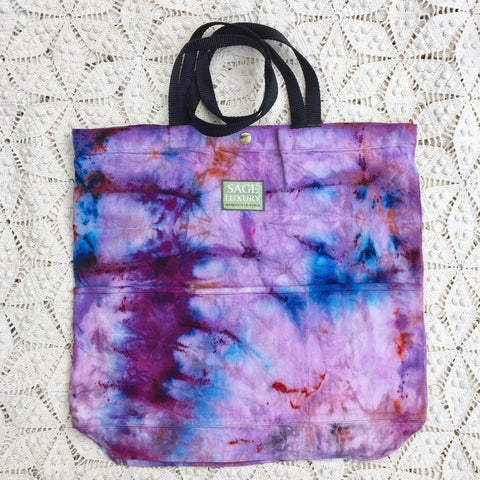 Picture of Orgato Shibori Tie Dye 3-Pocket Canvas Tote 1028 by Sage Luxury